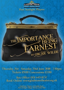 The Importance of being earnest, port Sunlight players june 2018