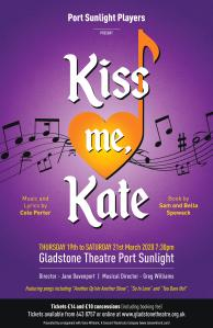 Kiss me Kate port sunlight players Wirral March 2020