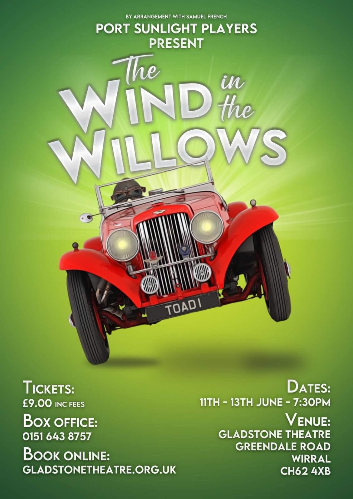 Wind in the willows June 2020 port sunlight Wirral